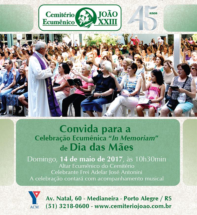 CEJ - Celebração Ecumênica Maio - Facebook