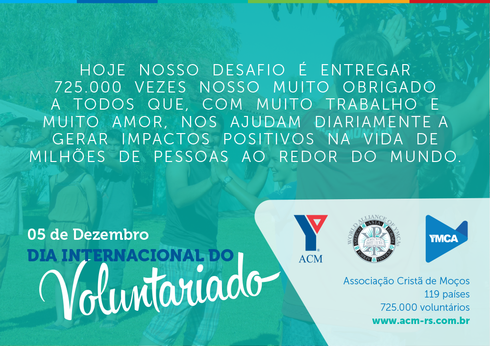 Dia Internacional do Voluntariado - Webcard