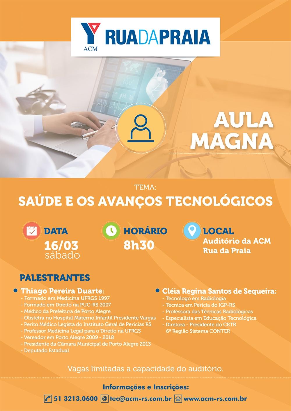 aula magna -saude e avanços tecnologicos